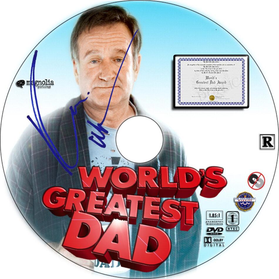 World's Greatest Dad dvd label
