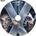 X-Men First Class (2011) Custom Blu-Ray DVD Label
