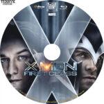 X-Men First Class (2011) Custom Blu-Ray DVD Label