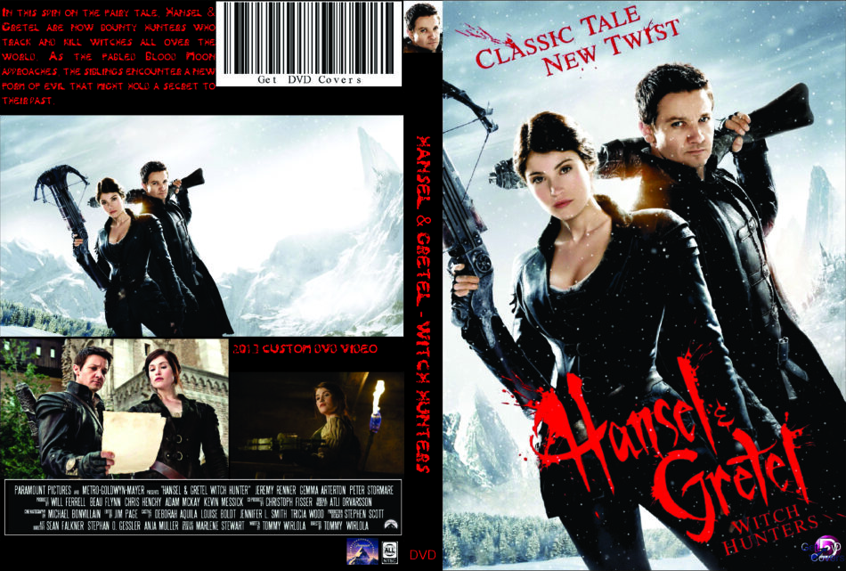Hansel Gretel Witch Hunters 2013 R0 Custom Movie Dvd Cd Label Dvd Cover Front Cover