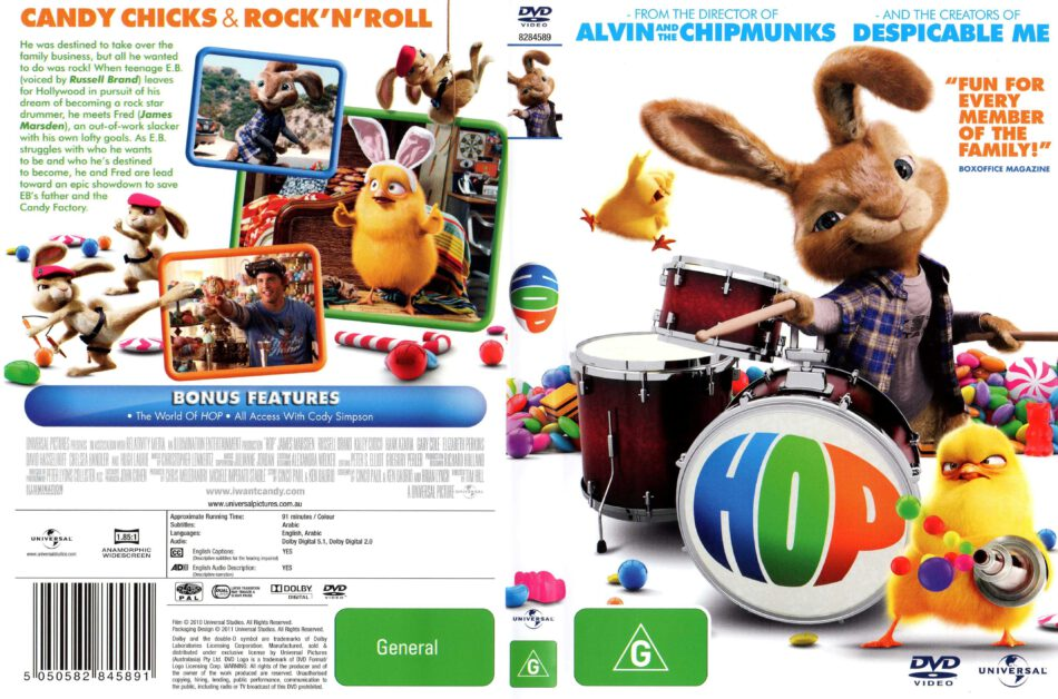 Hop 2011 Ws R4 Retail Cartoon Dvd Cd Label Dvd Cover Front Cover