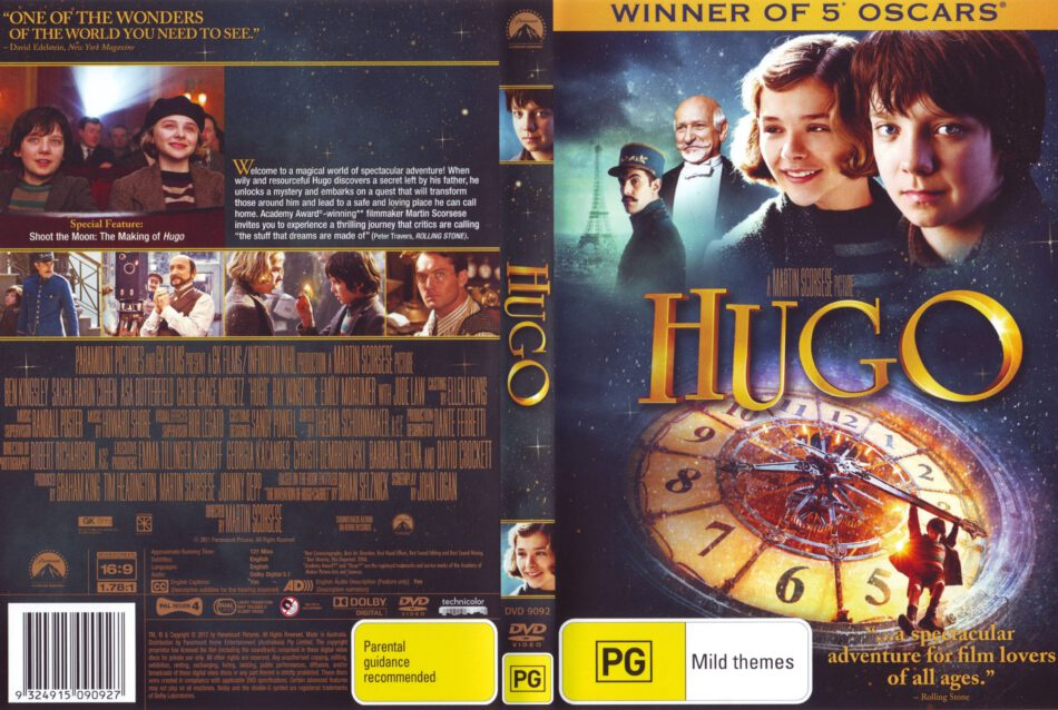 Hugo 2011 Ws R4 Movie Dvd Cd Label Dvd Cover Front Cover