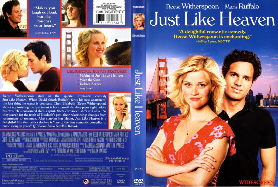 Just Like Heaven (2005) R1 - Movie DVD - CD label, DVD ...