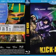 Kick-Ass 2 (2013) R1 Custom Blu-Ray DVD Cover