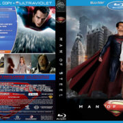 Man of Steel (2013) R0 Custom Blu-Ray DVD Cover