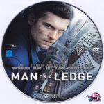 Man on a Ledge (2012) R0 Custom DVD Label