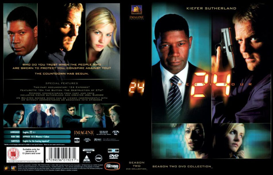 24 season 1-2-3-4   TV Series   Front Covers