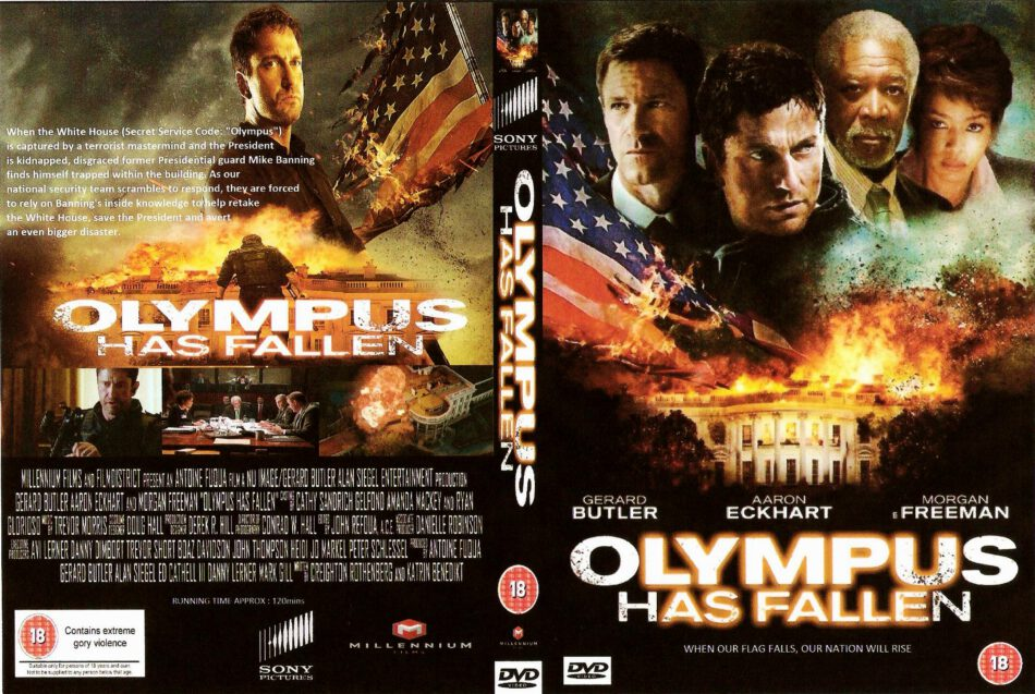 Olympus Has Fallen 2013 R2 Custom D Movie Dvd Front Dvd Cover