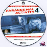 Paranormal Activity 4 Unrated (2012) R0 Custom DVD Label