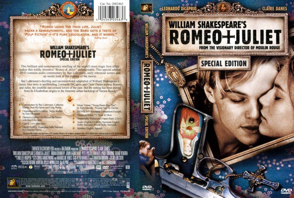 Romeo + Juliet (1996) - Movie DVD - CD Label, DVD Cover