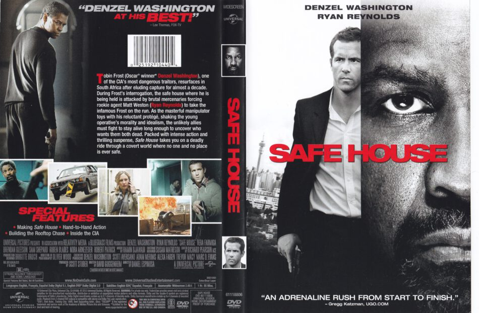Safe House 2012 Ws R1 Movie Dvd Cd Label Dvd Cover Front Cover