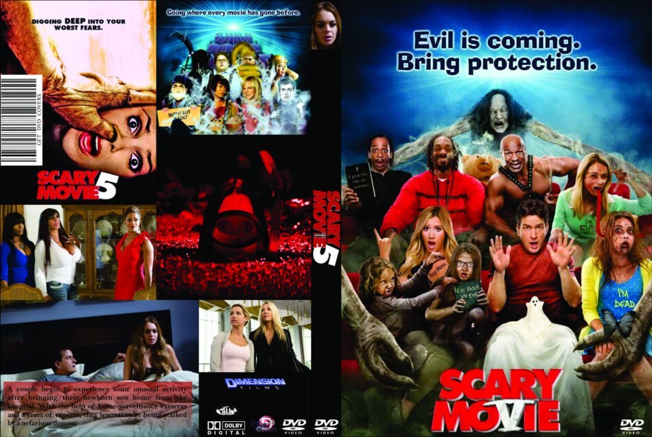 Scary Movie 5 2013 R0 Custom Movie Dvd Cd Label Dvd Cover Front Cover
