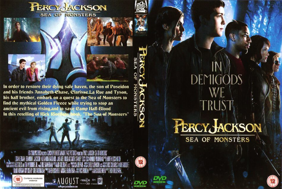 Percy Jackson Sea Of Monsters 2013 R2 Custom Tv Series Front Dvd Cover