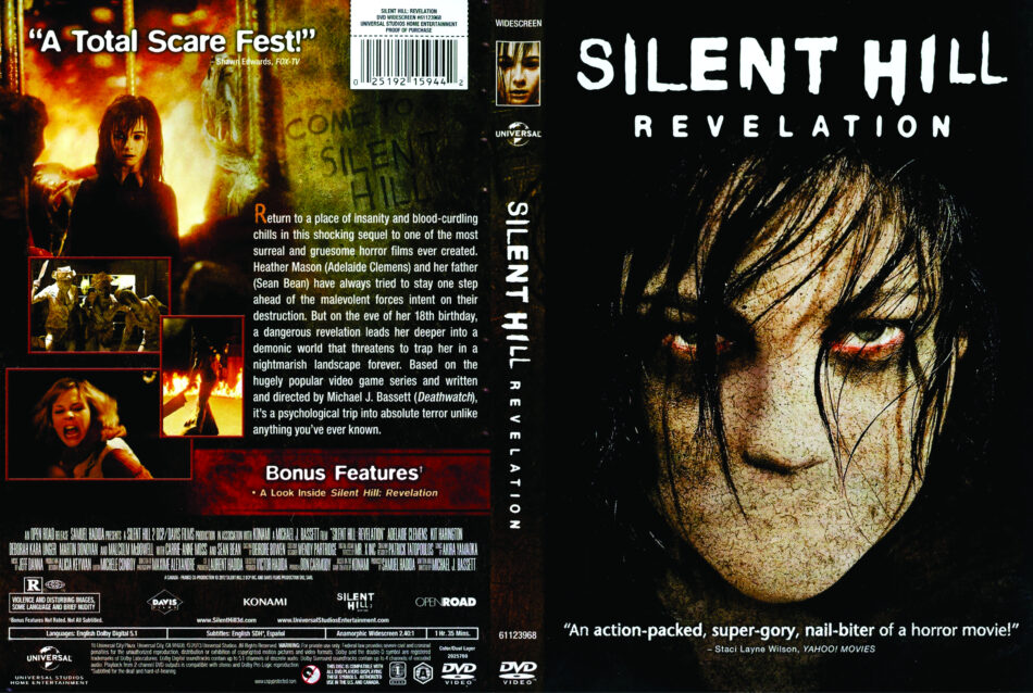 Silent Hill Revelation 2012 Ws R1 Movie Dvd Front Dvd Cover