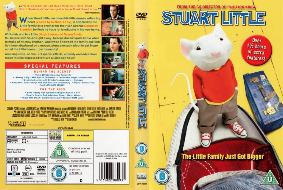 Stuart Little 1999 Ws R2 Movie Dvd Cd Label Dvd Cover Front Cover