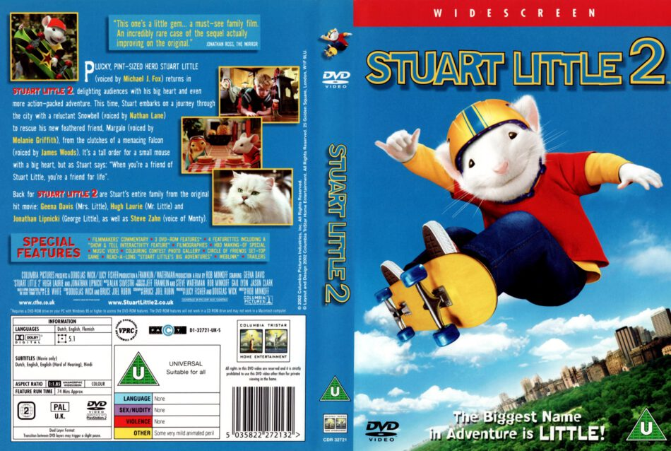 Stuart Little 2 2002 Ws R2 Movie Dvd Cd Label Dvd Cover Front Cover