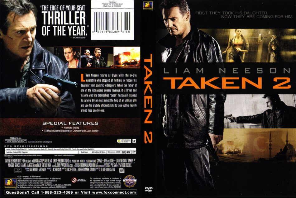 Taken 2 2012 Ws R1 Movie Dvd Front Dvd Cover