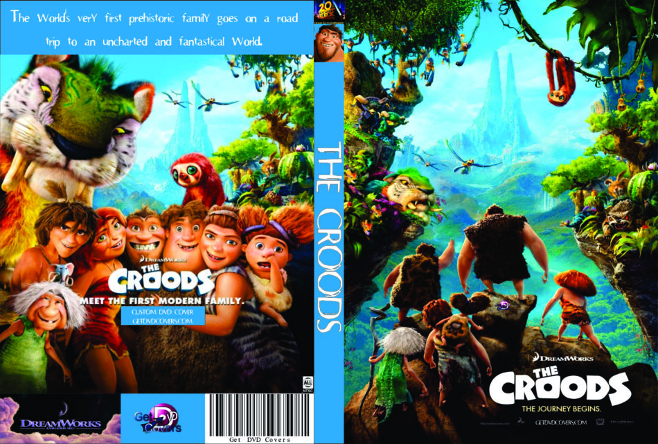 The Croods 2013 R0 Custom Cartoon Dvd Cd Label Dvd Cover Front Cover