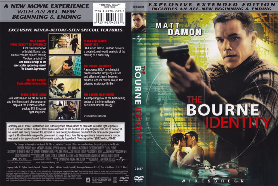The Bourne Identity 2002 Ce Ws R1 Movie Dvd Cd Label Dvd Cover Front Cover