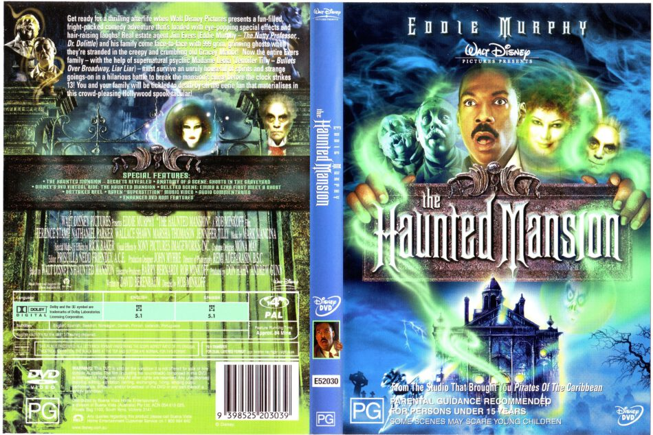 The Haunted Mansion 2003 Ws R4 Movie Dvd Cd Label Dvd Cover Front Cover