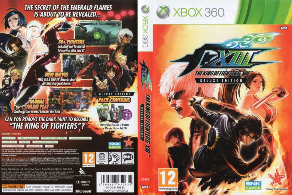 The King Of Fighters Xiii 2011 Pal Xbox 360 Cd Label Dvd