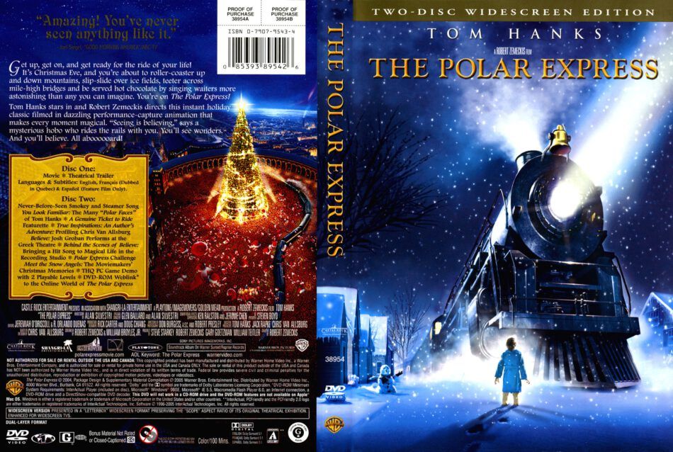 The Polar Express 2004 Ws Ce R1 Cartoon Dvd Cd Label Dvd Cover Front Cover