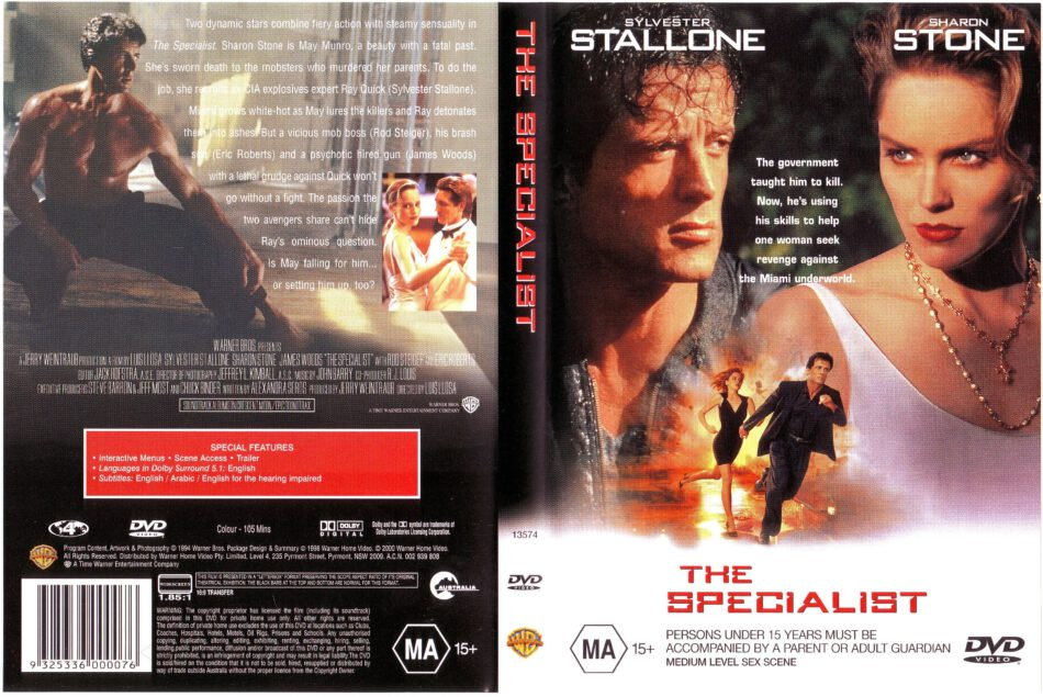 The Specialist 1994 Ws R4 Movie Dvd Cd Label Dvd Cover Front Cover