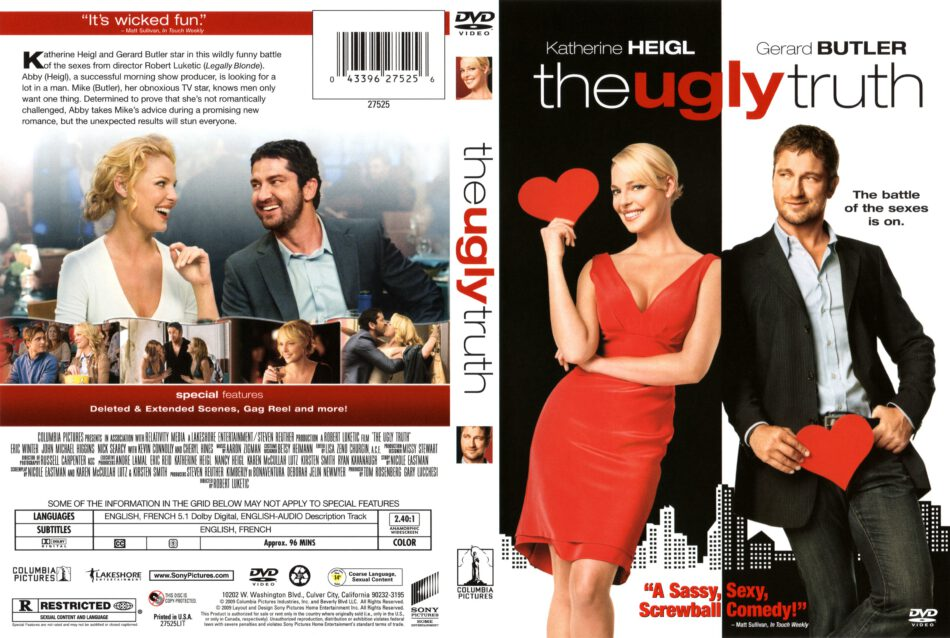 The Ugly Truth 2009 Ws R1 Movie Dvd Cd Label Dvd