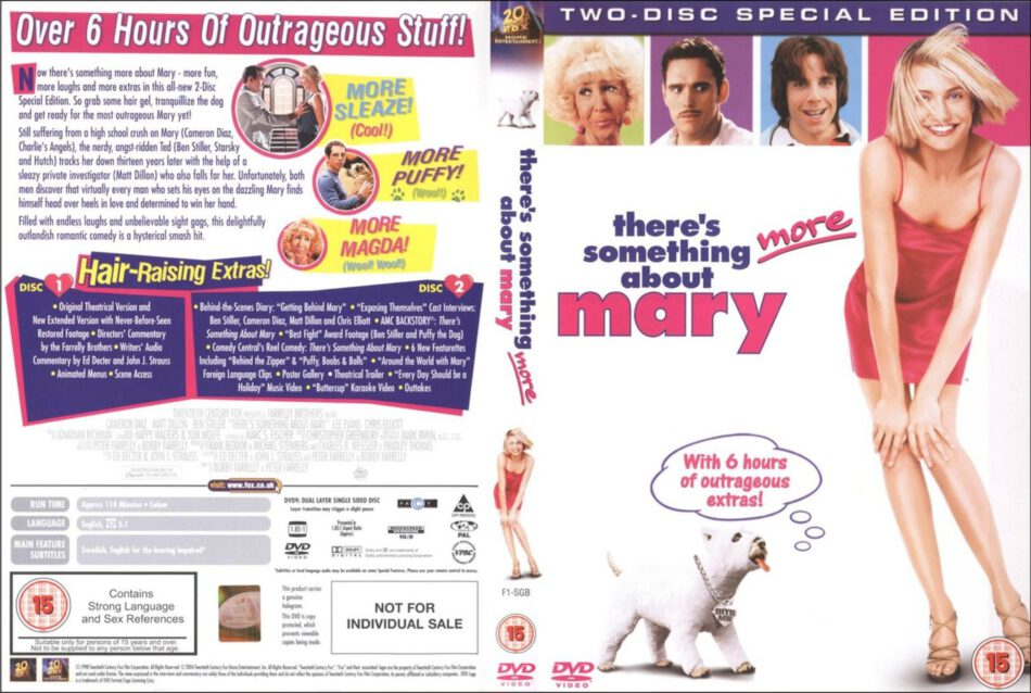 There S Something About Mary 1998 Se Ws R2 Movie Dvd Cd Label Dvd Cover Front Cover